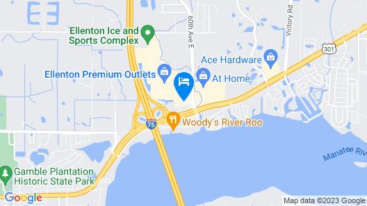Hampton Inn Ellenton/Bradenton, FL Map