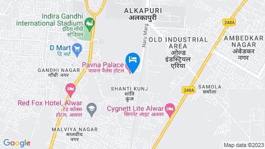 Red Fox Hotel Alwar Map