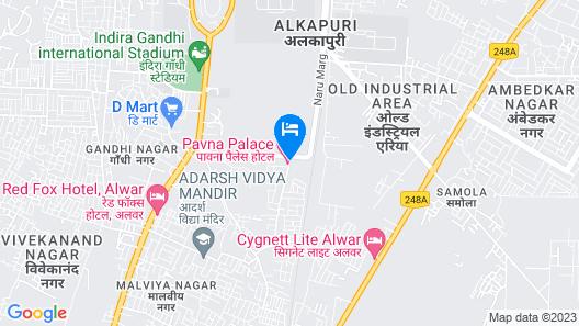 Lemon Tree Hotel Alwar Map