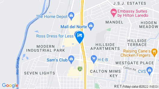 Americas Best Value Inn Laredo Map