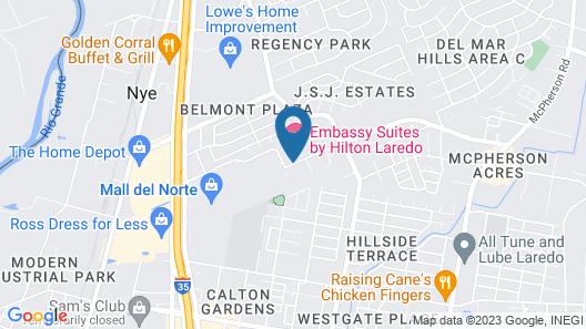 Embassy Suites Laredo Map