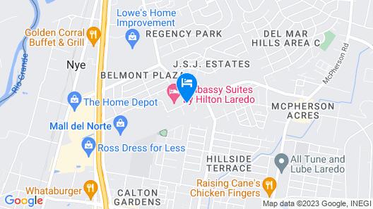 AmerikSuites Laredo Behind Mall Del Norte Map