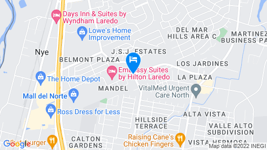Homewood Suites by Hilton Laredo at Mall del Norte Map