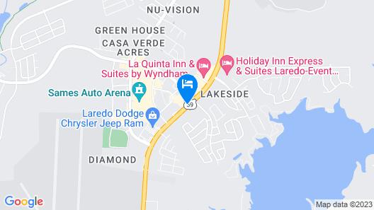 Staybridge Suites Laredo International Airport Map