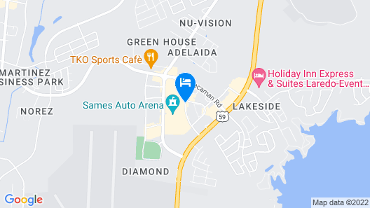 TownePlace Suites by Marriott Laredo Map