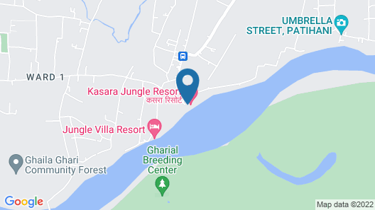 Kasara Resort - Chitwan National Park Map