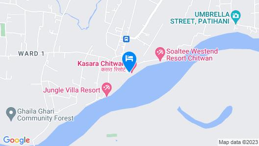 Kasara Resort - Chitwan National Park Map