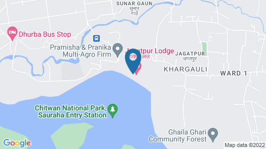 Jagatpur Lodge - Chitwan National Park Map