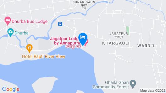 Jagatpur Lodge - Chitwan National Park Map