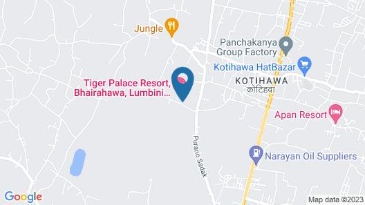 Tiger Palace Resort, Bhairahawa, Lumbini, Nepal Map
