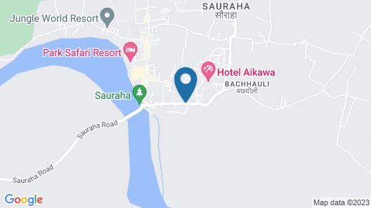 Chitwan Gaida Lodge Map