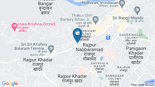 Shri Brajbhavan Ashram Spiritual Stay Map