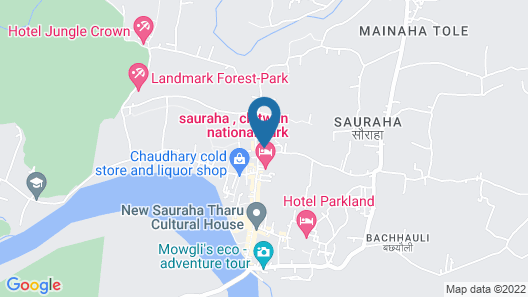 Hotel Monalisa Chitwan Map