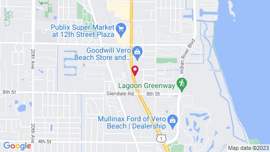 Econo Lodge Vero Beach - Downtown Map
