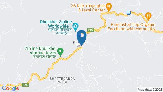 Dhulikhel Mountain Resort Map