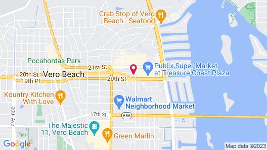 Hampton Inn & Suites Vero Beach-Downtown, FL Map