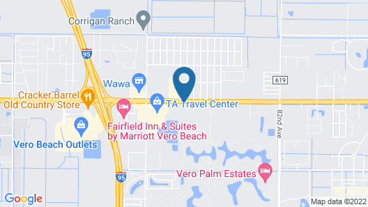 Vero Beach Inn & Suites Map