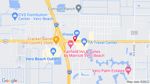 Comfort Suites Vero Beach I-95 Map
