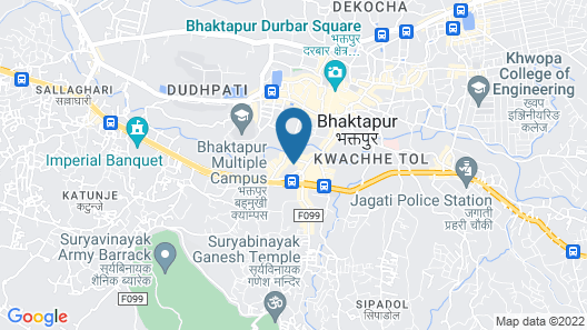 Hotel Bhadgaon Map