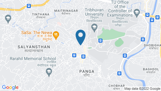 KIRTIPUR HILLSIDE HOTEL & RESORT Map
