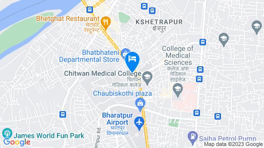 Bharatpur Garden Resort Map
