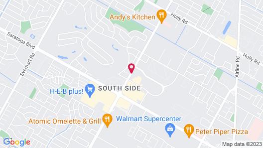 Extended Stay America - Corpus Christi - Staples Map