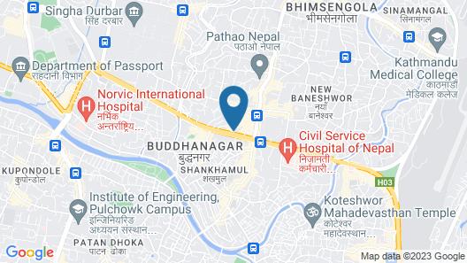 The Everest Hotel Kathmandu Map