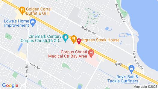 Red Roof Inn Corpus Christi South Map