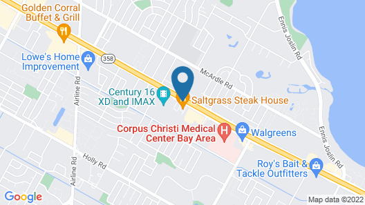 Towneplace Suites Corpus Christi Map