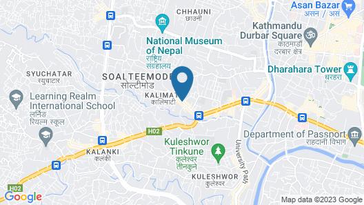 The Fern Residency Kathmandu Map
