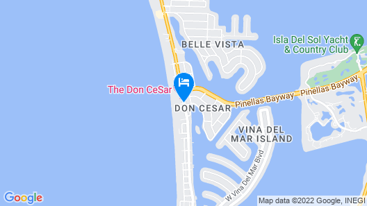 The Don CeSar Map