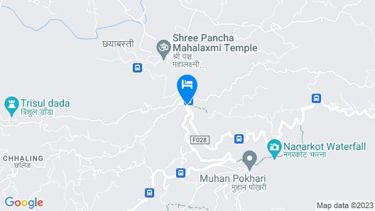 Bojinee Nagarkot Resort Map