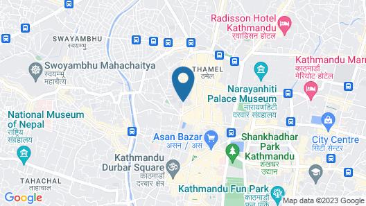 Kathmandu Madhuban Guest House Map