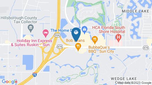 Comfort Inn Sun City Center-Tampa South Map