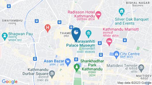 Temple Tiger Thamel Apartment Map