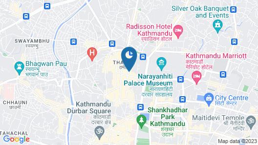 Yatri Suites and Spa, Kathmandu Map