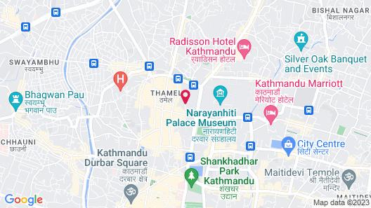 Oasis Kathmandu Hotel Map