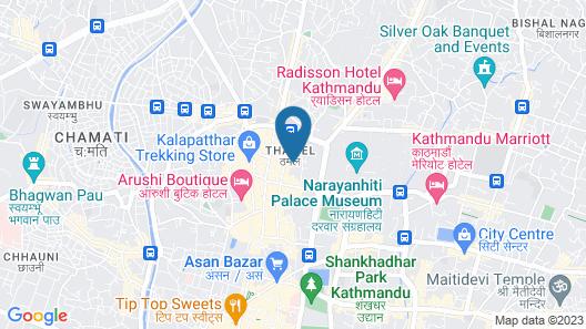 Aloft Kathmandu Thamel Map