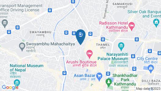 Beautiful Kathmandu Hotel Map