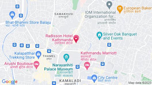 Radisson Hotel Kathmandu Map