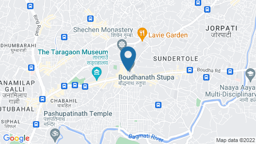 Boudha Stupa View Guest House Map