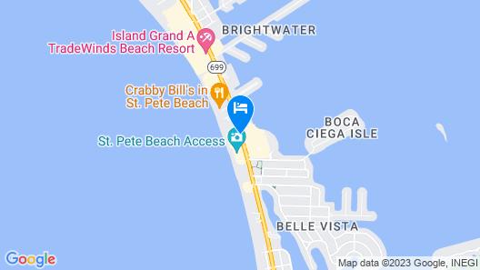 Dolphin Beach Resort Map