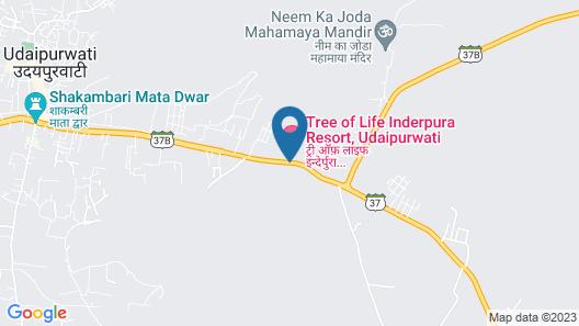 WelcomHeritage Inderpura Resort Map