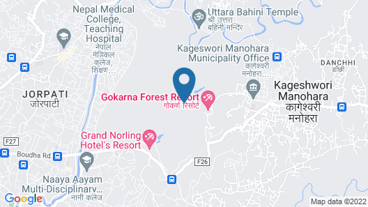 Gokarna Forest Resort Map