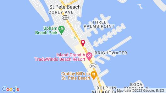 Howard Johnson Resort Hotel by Wyndham St. Pete Beach FL Map