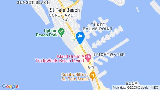 Beachcomber Beach Resort Map