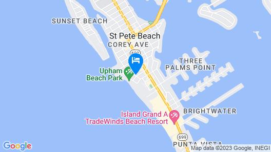 St Pete Beach Suites Map