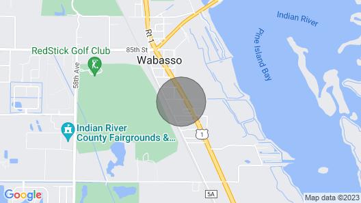 Treasure Coast Hidden Gem 2 Miles From Beaches! Map