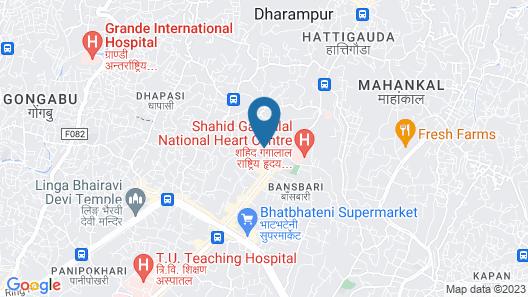 Beautiful Full Furnishing Apartment in Good Location in Kathmandu Map