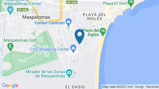 Tajinaste Beach Gay Apartments Map
